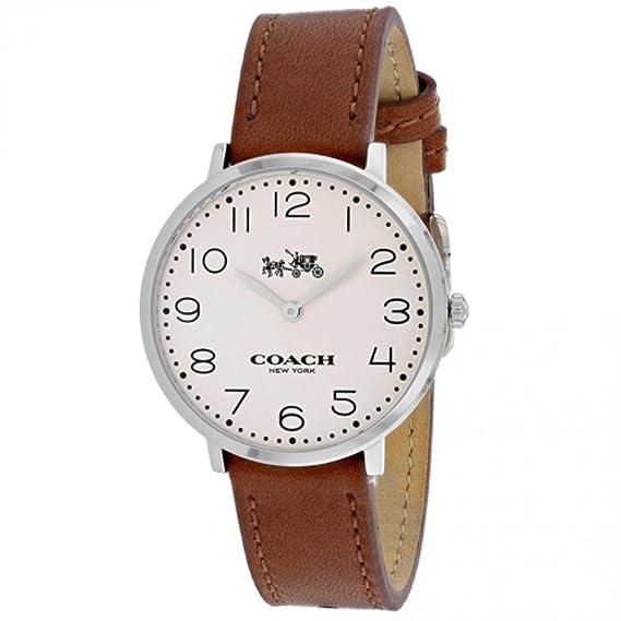 3ca8a3d0370f3 Coach Women s Slim Easton Brown Leather Band Steel Case Quartz Watch  14502682  Amazon.ca  Watches