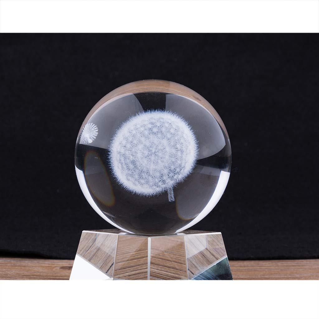 Diente de le/ón Sharplace 8cm Bola de Crital 3D Apoyos de Fotograf/ía Juguete de Ciencia de Astronom/ía