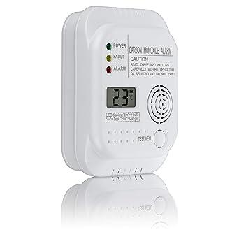 SEBSON Detector monoxido de carbono, EN 50291, alimentado por baterías, CO alarma,