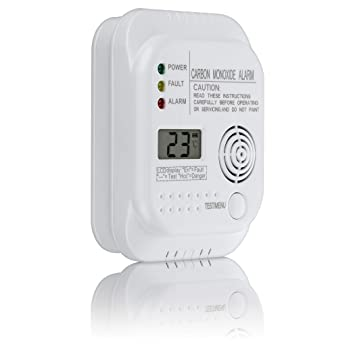 EN 50291 certified battery powered gas detector with digital display and temperature indicator SEBSON Carbon Monoxide Alarm