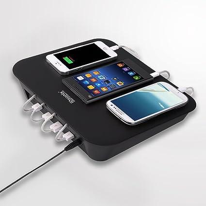 IDsonix 4 Port USB DC Charging Station Detachable Universal Multi Port USB Charging  Dock