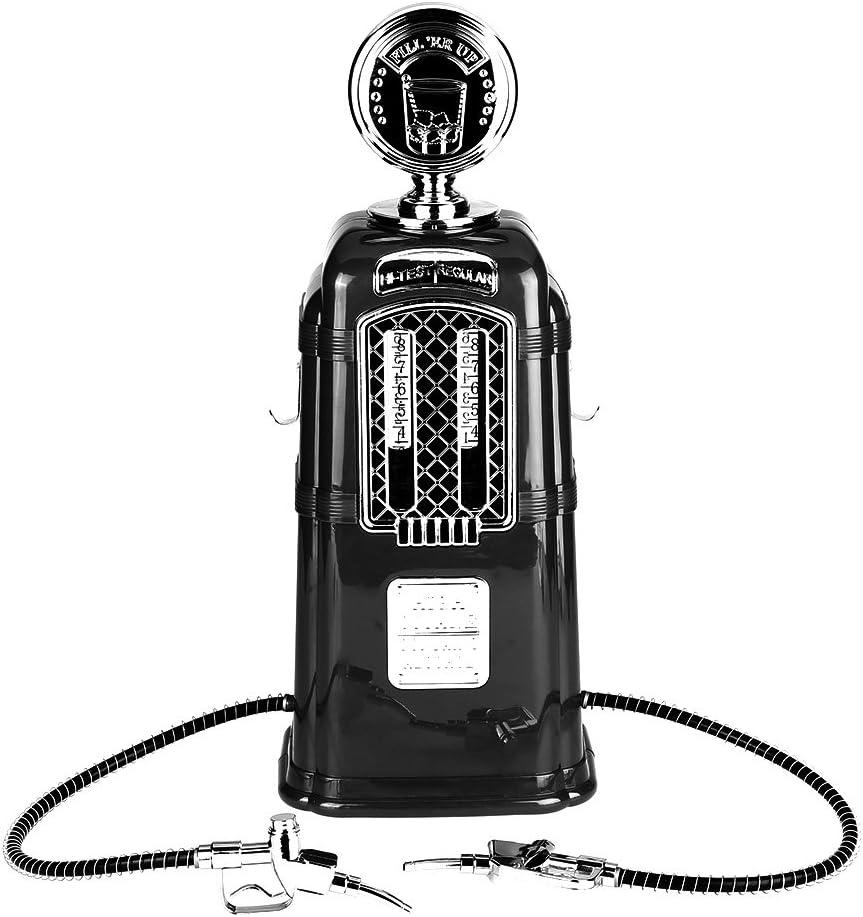 1000cc Dispensador de Cerveza Estación de Bebida con Doble Boquilla, Bomba Licor Alcohol Cerveza Dispensador de Bebidas(Black)