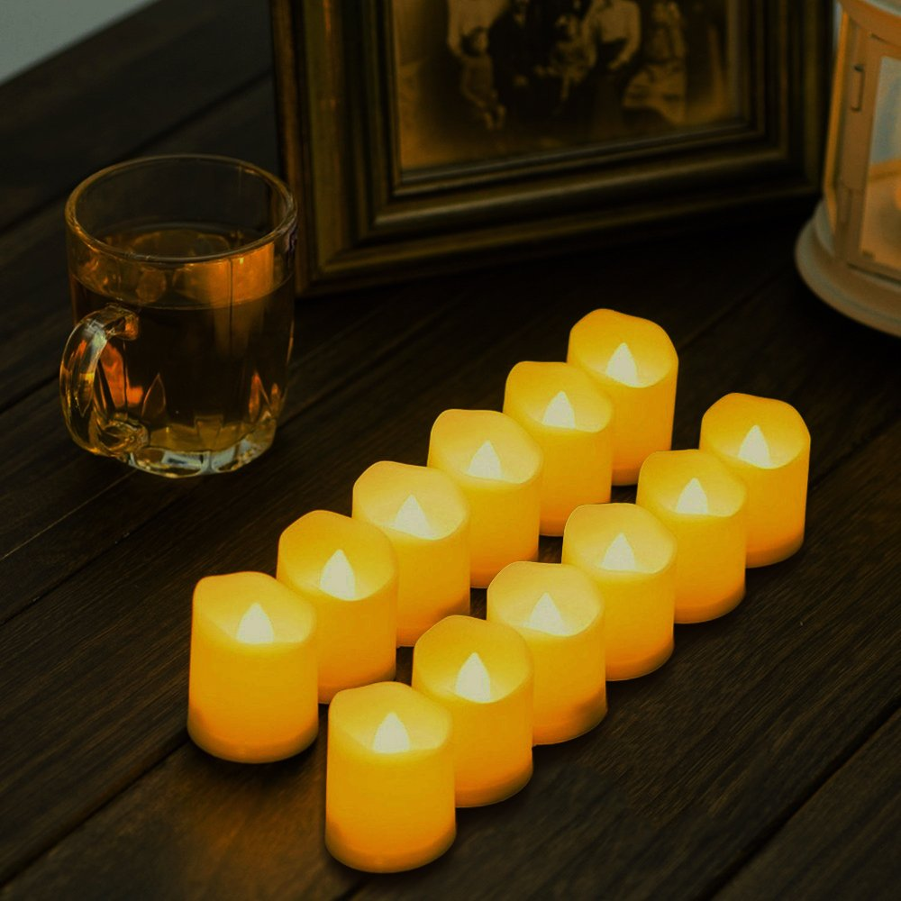 Novelty Place [Longest Lasting Battery Operated Flickering Flameless LED Votive Candles (Pack of 96) by Novelty Place (Image #4)