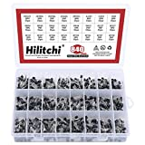 Hilitchi 24-Values 2N2222-S9018/BC327-BC558 NPN PNP Power General Purpose Transistors Assortment Kit - Pack of 840