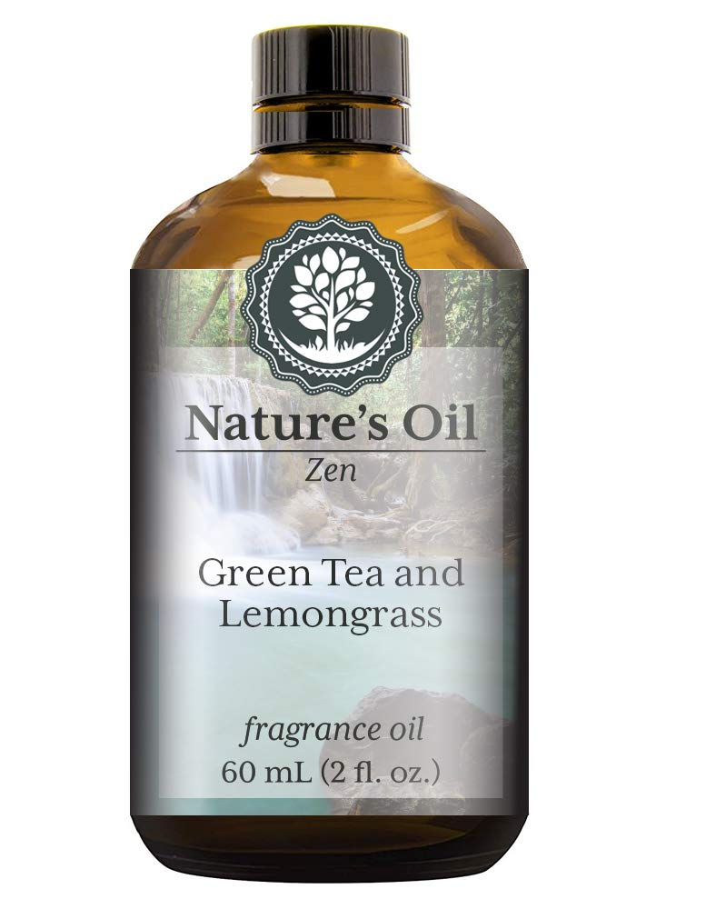 Green Tea and Lemongrass Fragrance Oil (60ml) For Diffusers, Soap Making, Candles, Lotion, Home Scents, Linen Spray, Bath Bombs, Slime