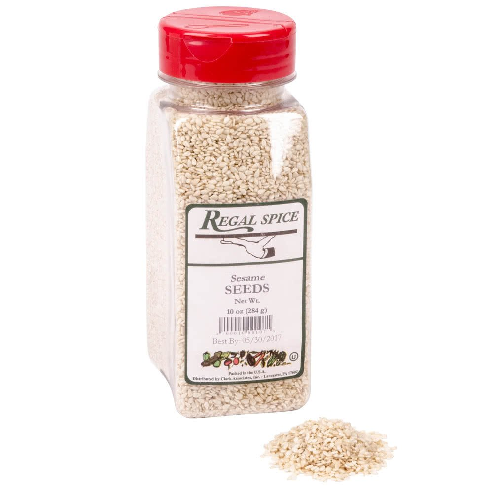White Sesame Seeds - 10 oz. By TableTop King