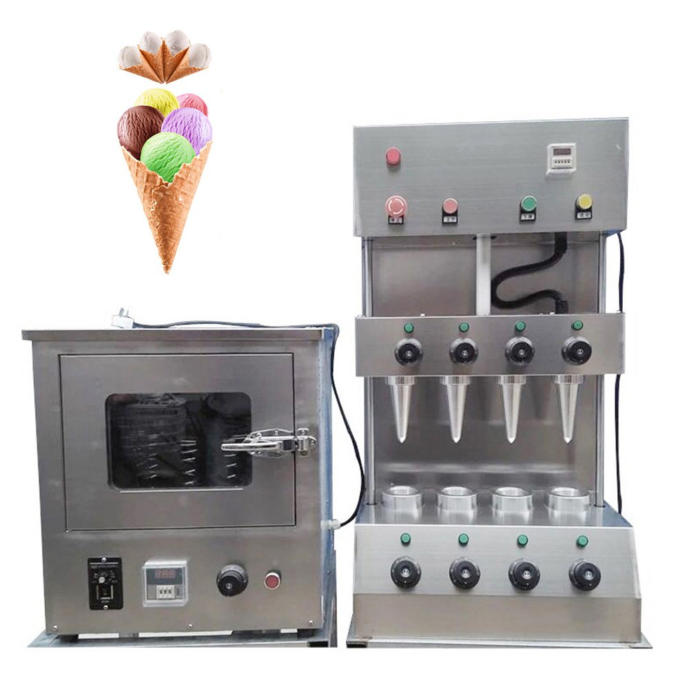 Genmine Commercial Pizza Cone Forming Making Maker Machine with Rotational Pizza Oven Automatic Pizza Cone Maker 110V by Genmine