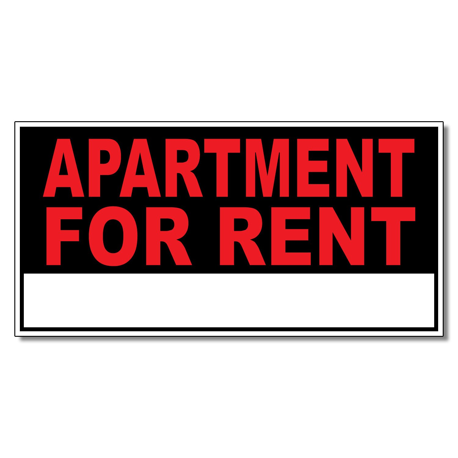 Apartment For Rent Business DECAL STICKER Retail Store Sign 19.5 x 48 inches Fastasticdeals