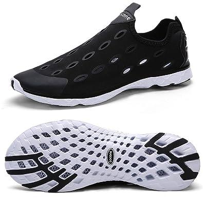 Zhuanglin Mens Mesh Slip On Water Shoes Casual Walking Shoes Size 7 DM US Black