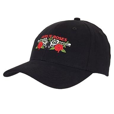 33b72bed076 Amazon.com  Guns N Roses black baseball cap  Double Guns  flexfit ...