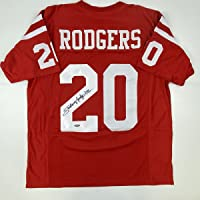 $94 » Autographed/Signed Johnny Rodgers Nebraska Red College Football Jersey Tristar COA Holo Only