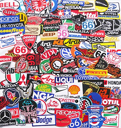 Iron On Patch - Random Racing Sport Motor Wholesale Random Lot Embroidered Sew Iron On Patch Set
