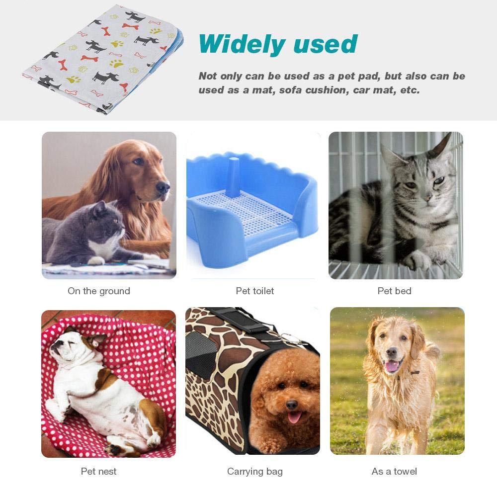 Tappetini Addestramento e Viaggio per Cani Lavabili Grandi Riutilizzabile Fewao Tappetini di Addestramento Tappetini assorbenti per Animali Domestici