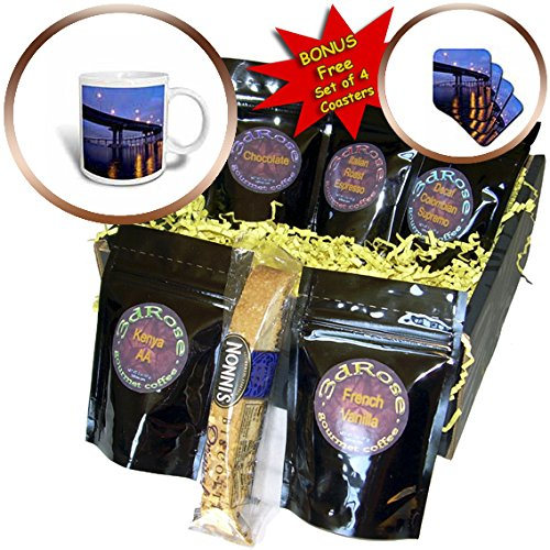 3dRose Danita Delimont - San Diego - California, San Diego, Coronado Bridge curves over San Diego Bay - Coffee Gift Baskets - Coffee Gift Basket (cgb_250632_1)