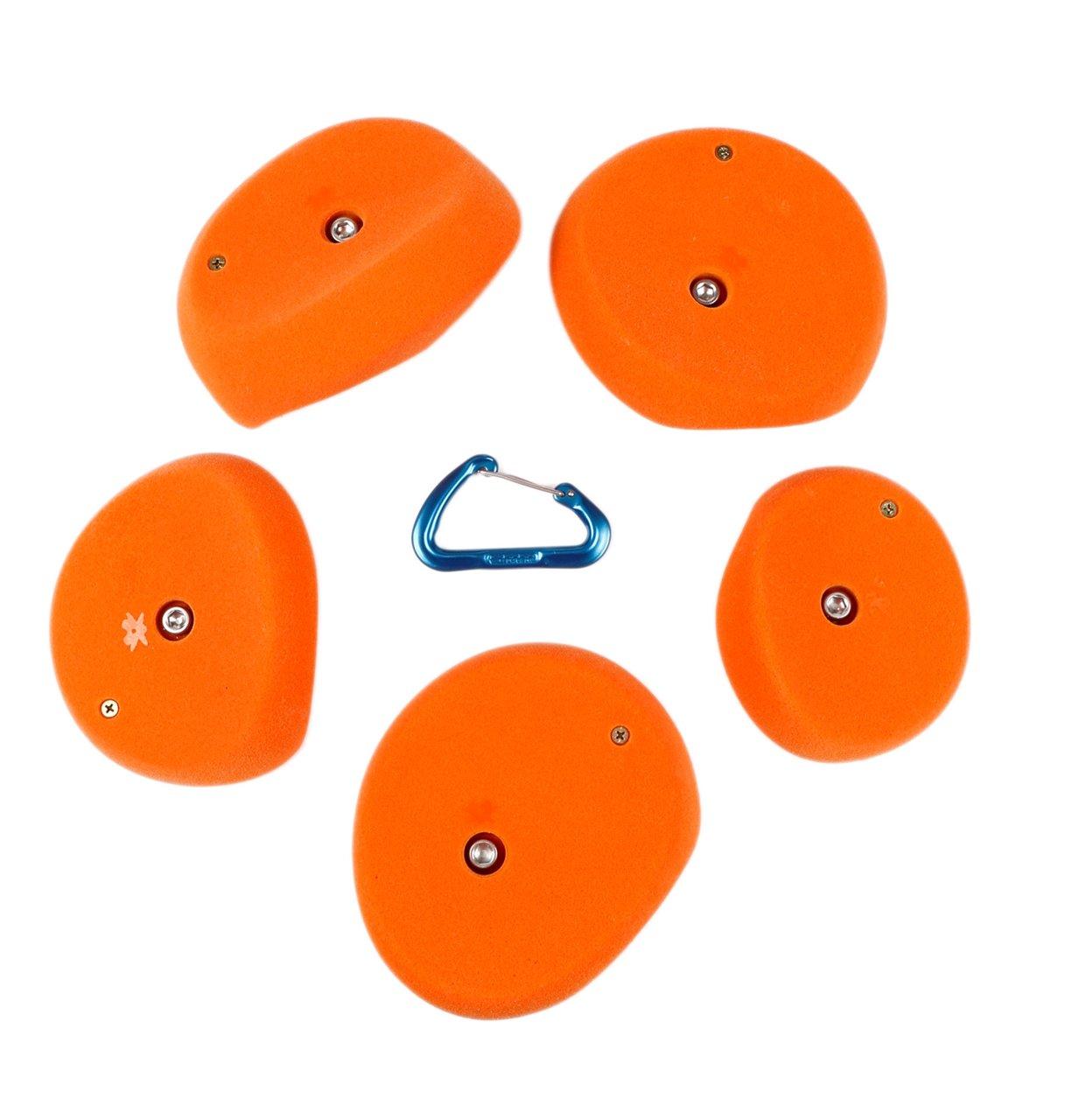 5 XXL Scoops ( Hidden Jugs ) l Climbing Holds l Orange