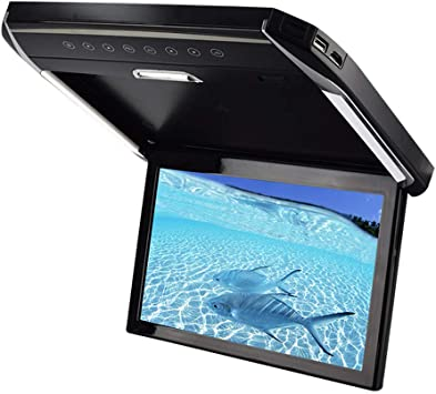 LED Light Car TV Monitor Tipo de Techo 12.1 Pulgadas en Pantalla Grande HD 1080P Adecuado para USB TF HDMI SD FM Se Puede conectar al Disco Duro DVD para automóvil MP5: