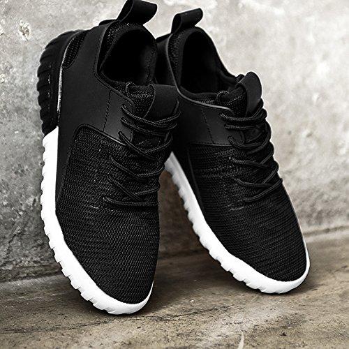 Tiosebon Femmes Joker Mode Chaussures Légères Sneakers Respirant 6502 Noir