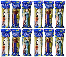 Disney Frozen PEZ Candy Dispensers: Pack of 12
