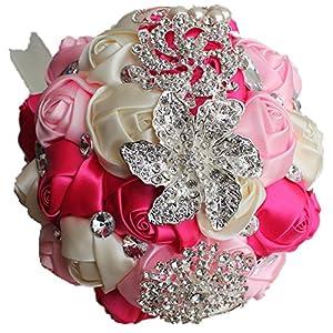 Anwedding Wedding Flowers Bridal Bouquets Elegant Pearl Bride Bridesmaid Wedding Bouquet Crystal Sparkle 105
