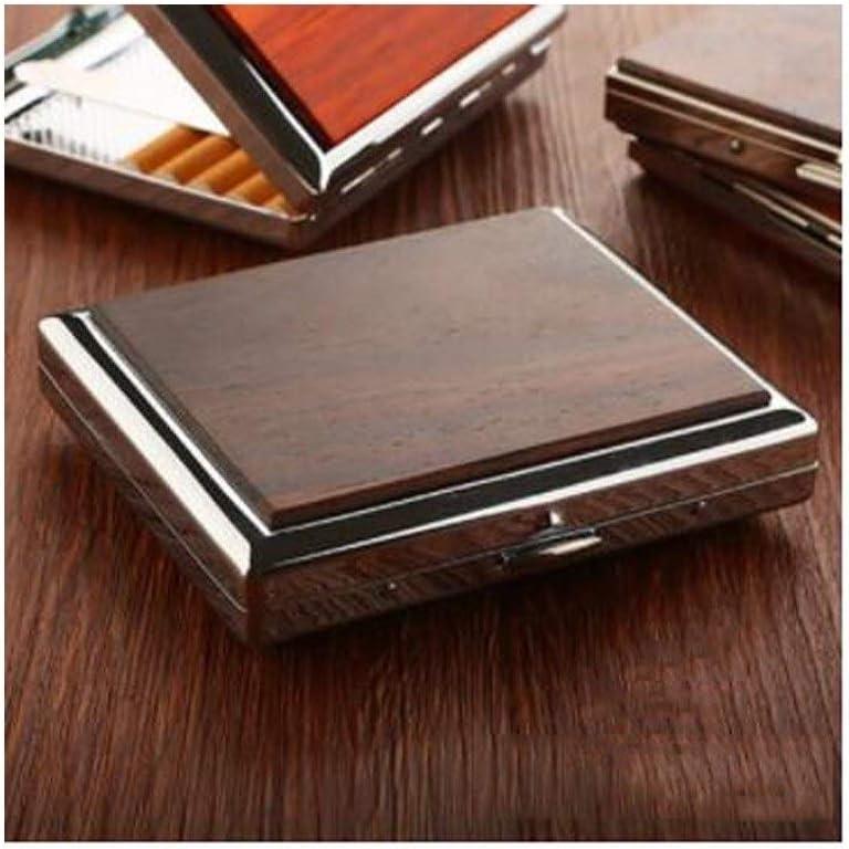 CXBHS Estuche de cigarrillos, regalo del día del padre, estuche de cigarrillos de madera maciza ultrafino Estuche de cigarrillos portátil de regalo comercial, 10 paquetes, regalo for hombres, 20 paque: Amazon.es: Equipaje