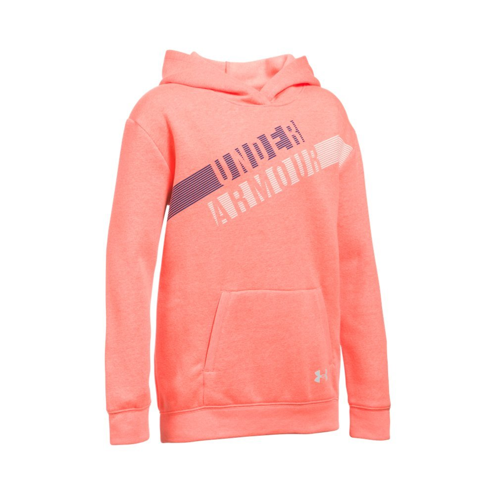 Under Armour Girls' Favorite Fleece Hoodie, London Orange Light (405), Youth Small by Under Armour