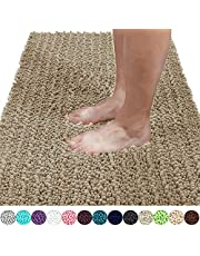Yimobra Luxury Chenille Bath Mat, Soft Shaggy and Comfortable, Large Size, Super Absorbent and Thick, Non-Slip, Machine Washable, Perfect for Bathroom