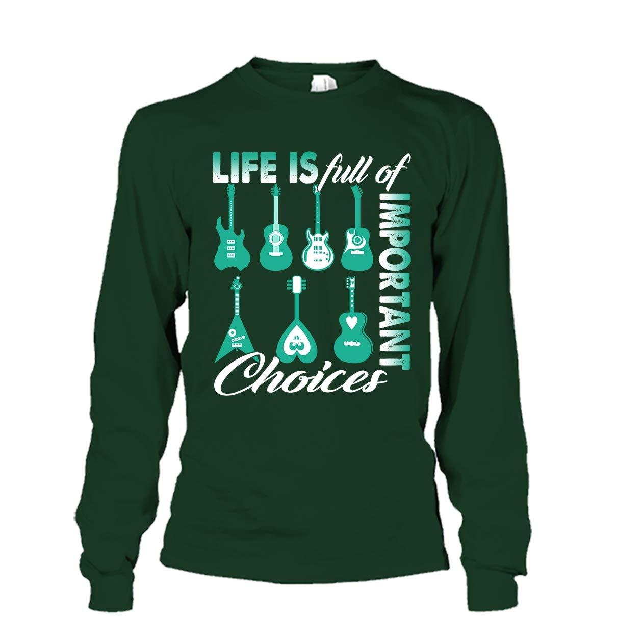 Life is Full of Important Choices Tee Shirt Mazoli Guitar Cool Tshirt