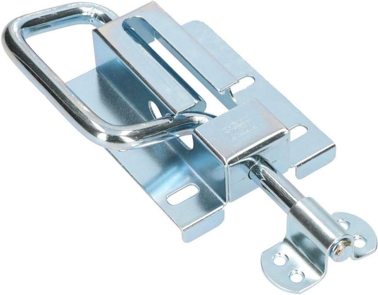 KOTARBAU® - Pestillo de puerta 120/12 mm, puerta de resorte, cerrojo de puerta, puerta corredera de puerta, galvanizado en plata
