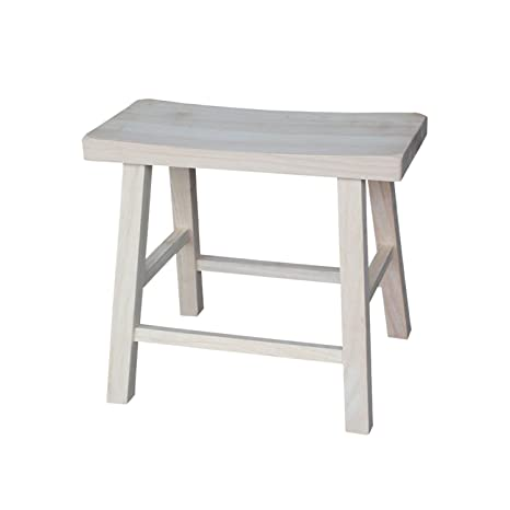 Pleasing International Concepts 18 Inch Saddle Seat Stool Unfinished Machost Co Dining Chair Design Ideas Machostcouk
