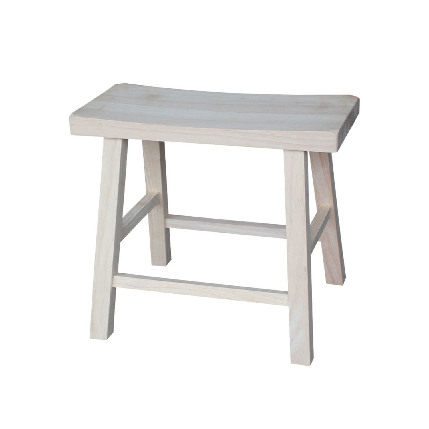 International Concepts 1S-681 18-Inch Saddle Seat Stool, Unfinished