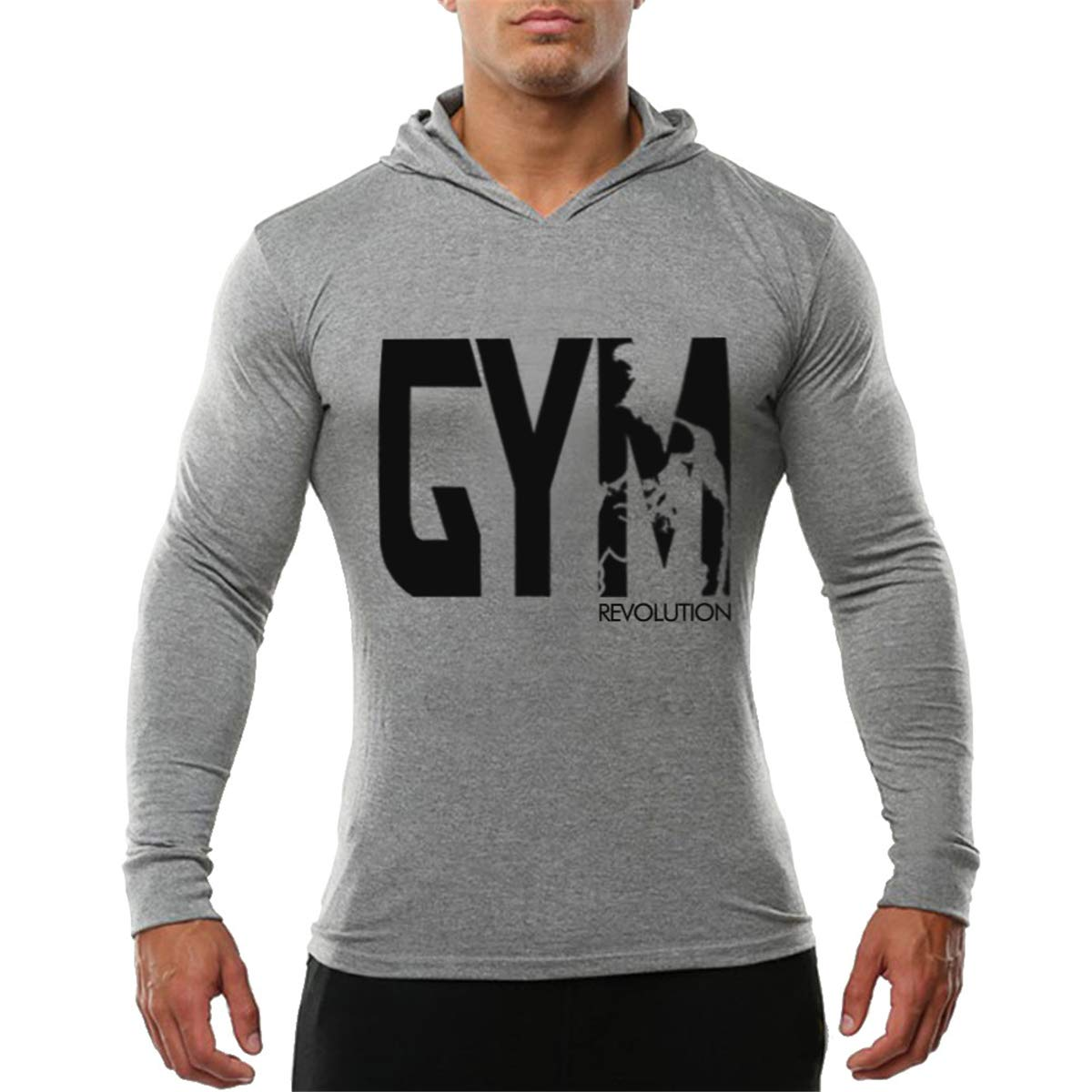 Cabeen Felpe con cappuccio Manica lunga GYM Pullover Bodybuilding Sweatshirt Tops BX62