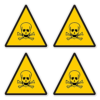 amazon com dealzepic yellow triangle poison toxic warning sign