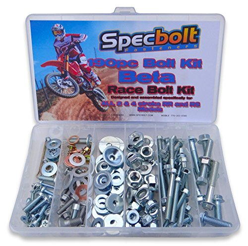 520 Motorcycle - 190pc Specbolt Beta RR RS Xtrainer Motorcycle Bolt Kit 250 300 350 390 400 430 450 480 498 520 525 2 & 4 strokes