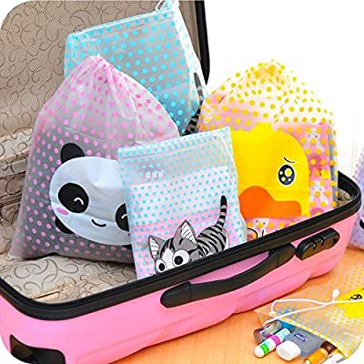 Travel Cosmetic Bag Makeup Pouch Toiletry Waterproof Storage Cartoon Animal Package Organizer Washable Case (Random: Size)