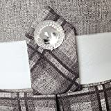 LD47 Girls Dress Gray Plaid Belted School Pleated