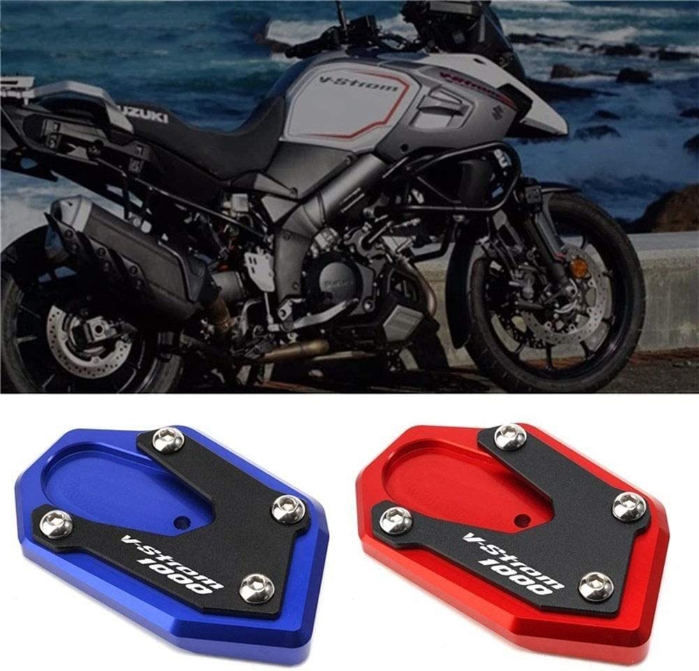 Color : Black Motorrad CNC Seitenst/änder Seitenst/änder Vergroter Plaat Verl/ängerung Pad//Fit for Suzuki V-Strom 1000 DL1000 V-Strom 1000 XT 2014-2020