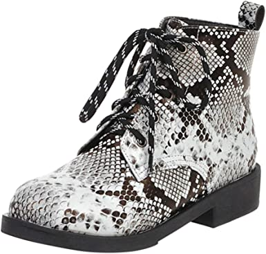 Fashion Snakeskin Ankle Booties, Low