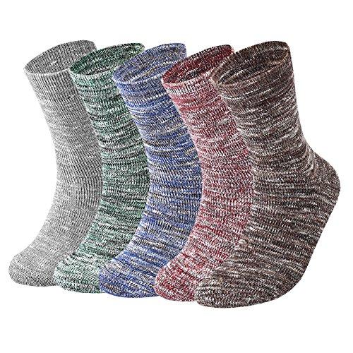 Épaissie Chaud Paires En 5 Vbiger Hiver Couleur Coton Confortables Deux Chaussette Hommes X4wFRI