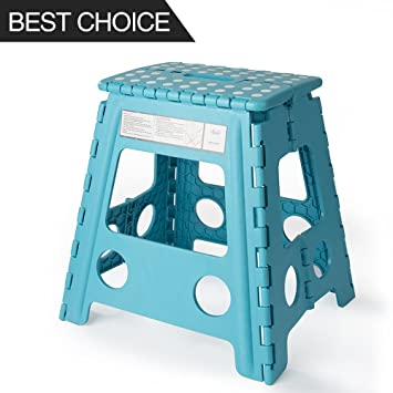 Acko 16 Inches Super Strong Folding Step Stool for Adults and Kids Light Blue Kitchen  sc 1 st  Amazon.com & Amazon.com: Acko 16 Inches Super Strong Folding Step Stool for ... islam-shia.org
