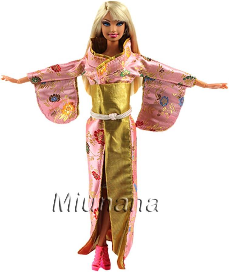 Amazon.es: Miunana 1 Vestido Estilo Japonés Kimono Japonesa ...