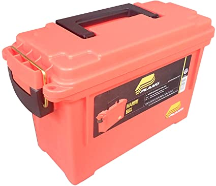 Plano 131252 Dry Storage Emergency Marine Box Orange New Free Ship