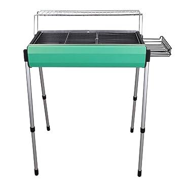 CHIC-CHIC multifuncional barbacoa parrilla plegable mesa – Barbacoa Carbón parrilla para interior jardín al