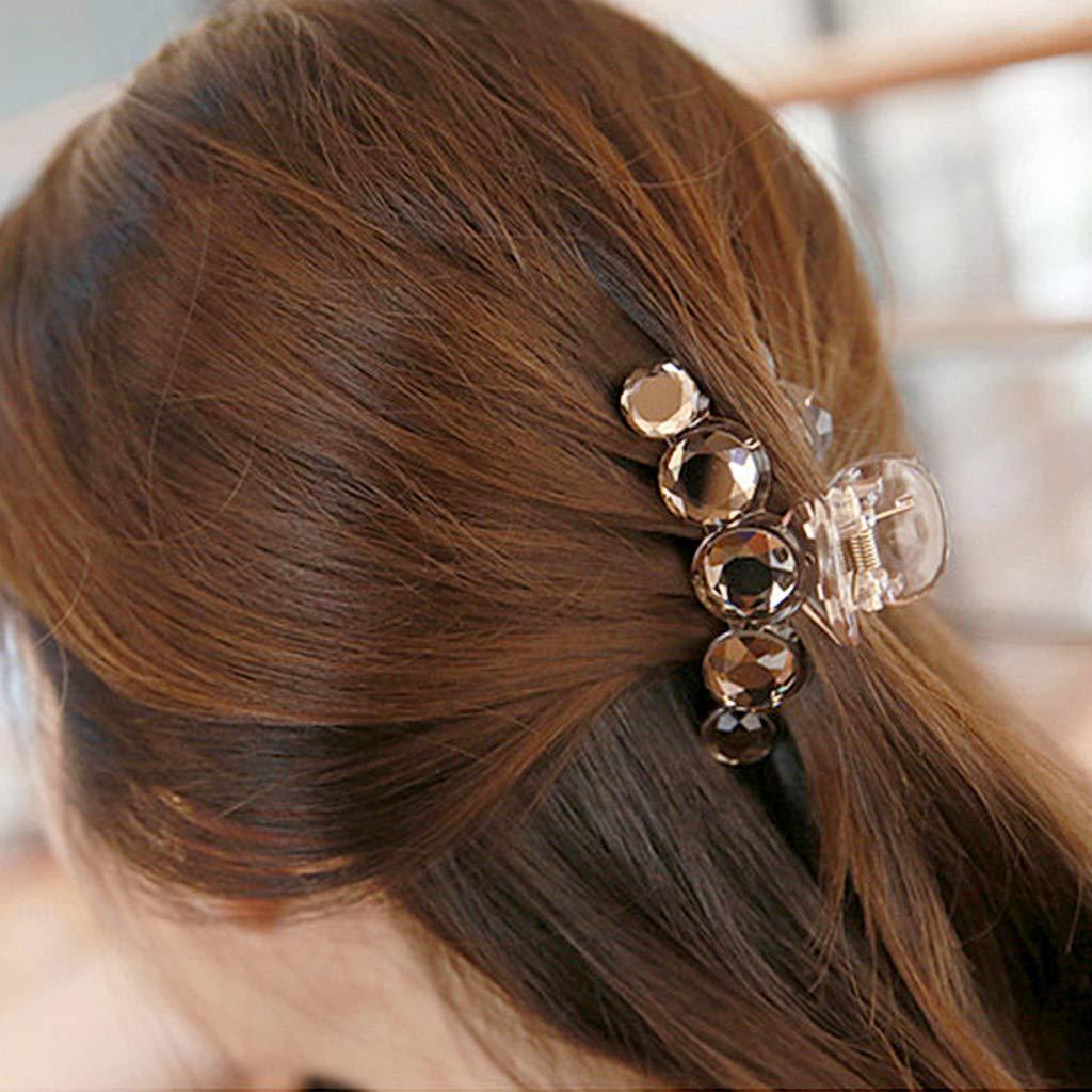 Gris VIccoo Pince /à Cheveux en Plastique Pince /à Cheveux en Plastique Cheveux Griffes pour Femmes /Él/égants Cheveux Ornements