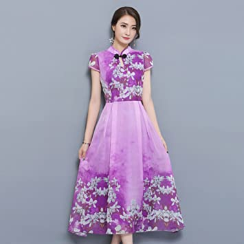 Vestido de mujer Vestidos de las mujeres 2018 Imprimir vestido de la envoltura del Chinoiserie del