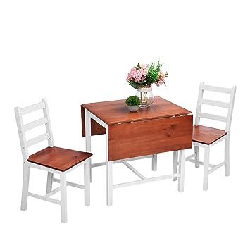 onlyeu Dora 5 piezas Juego de mesa Grupo mesa plegable silla de comedor Juego mesa comedor