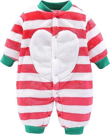 B/éb/é Barboteuses Polaire Combinaison Pyjamas Mignon Grenouill/ère Manches Longues Body 0-3 Mois