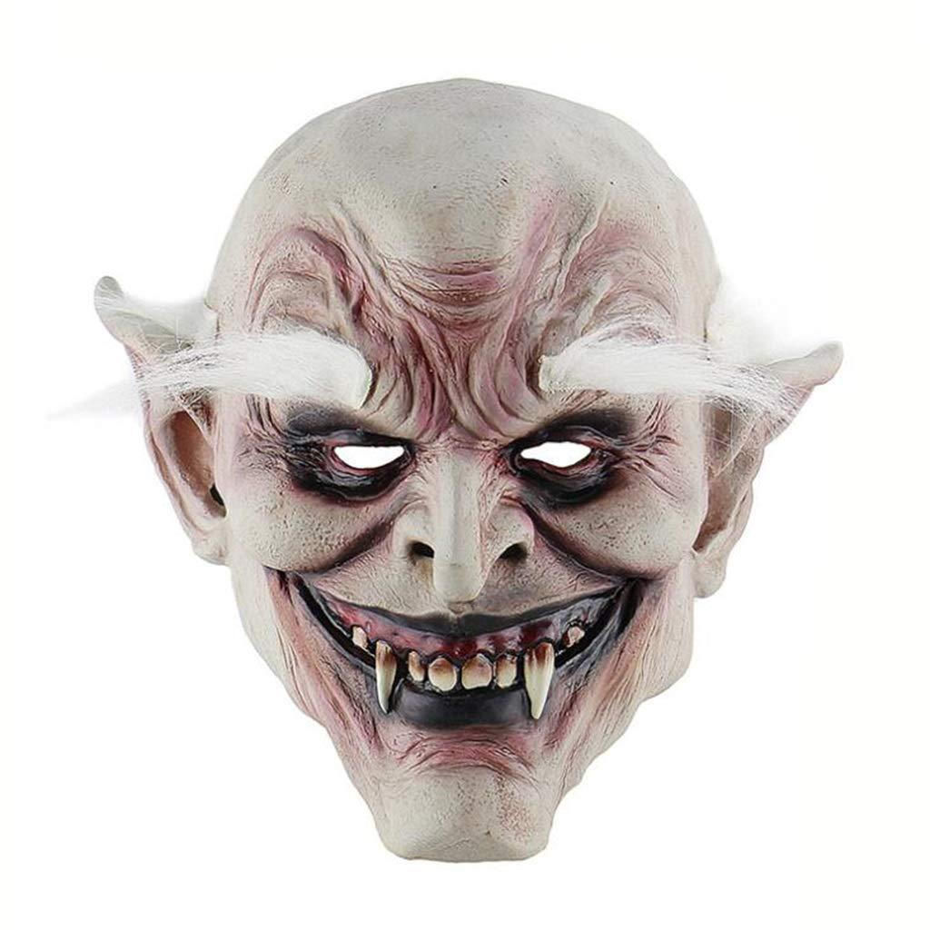 JTWJ Weißbrauen alte alte alte Dämon Halloween Horror Teufel Maske Spukhaus verkleiden Requisiten Latex Haube 24f91e