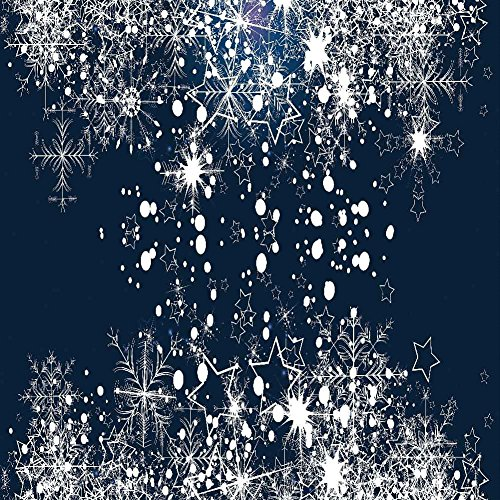GladsBuy Distinct Snowflakes 10' x 10' Digital Printed Photography Backdrop Christmas Theme Background YHA-447 by GladsBuy