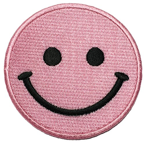 [Papapatch Smiley Happy Face Smile Fun Logo Hippie Retro Jacket T-shirt Costume DIY Applique Embroidered Sew Iron on Patch - Pink] (Face Painting For Lion Costume)