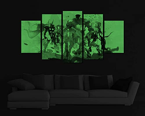 Picture Sensations Glow In The Dark Framed Canvas Art Print